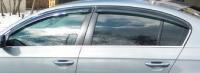 Дефлекторы окон (ветровики) для Volkswagen Passat B7 (2010-... г.в.) седан