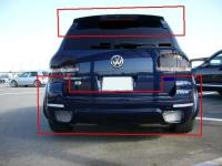 Накладка (юбка) IKKI на бампер задний для Volkswagen Touareg 2006-2010 г.в.