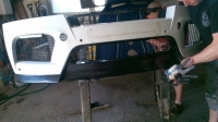Накладка на бампер передний Vorsteiner для BMW X6 E71