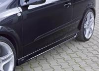 Накладки на пороги Steinmetz (внешние) для Opel Astra H - GTC 2004-2010 г.в.