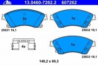 Тормозные колодки передние для Opel Astra J 2009-... г.в.