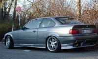 Накладки на пороги (внешние) Lumma для BMW 3-E36 1990-2000 г.в. купе