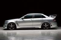 Накладки на пороги (внешние) Wald для Mercedes Benz C-class W204 кузов 2007-...г.в.