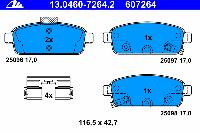 Тормозные колодки задние для Chevrolet Cruze 2009-... г.в.