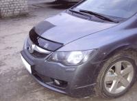 Дефлектор капота (мухобойка) на Honda Civic VII 2001-2006 г.в.