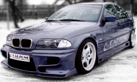 Накладки на пороги (внешние) Carzone-Kомет для BMW-3 серии E46 1998-2005 г.в.