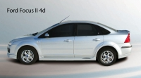 Накладки на пороги (внешние) FT для Ford Focus 2 седан
