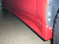 Накладки на пороги (внешние) для Mitsubishi Lancer X 2007-...г.в.