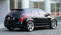 Накладки TopStar на пороги (внешние) для Nissan Murano Z50 2002-2008 г.в.