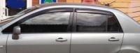 Дефлекторы окон (ветровики) для Nissan Tiida (2004-2011 г.в.) седан