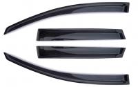 Дефлекторы окон (ветровики) для Nissan Tiida (2012-... г.в.) хэтчбек 5 дверный